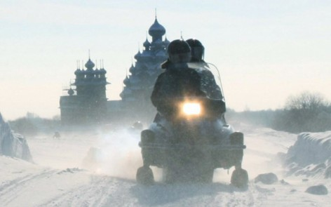 snowmobile tour Kizhi