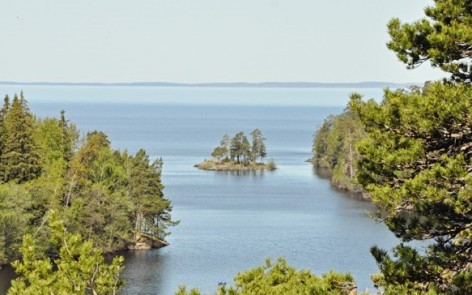 panorama view from Valaam Island