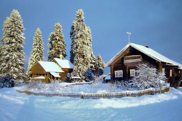 kinerma village in winter