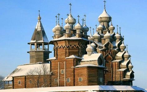 kizhi churches in winter