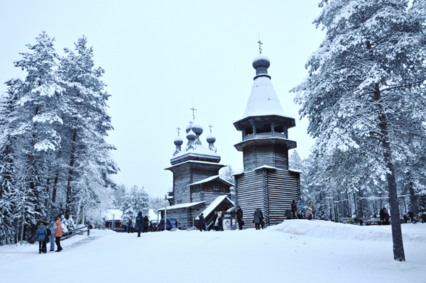 Malye Korely museum in winter