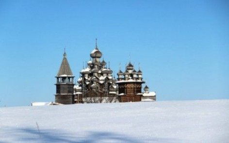 Kizhi island in winter