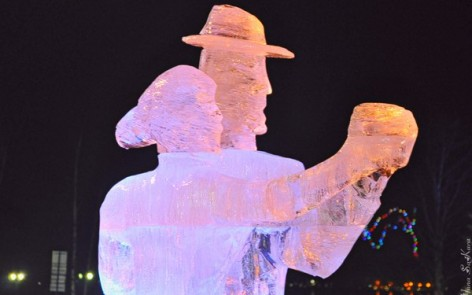 ice sculpture festival in Karelia