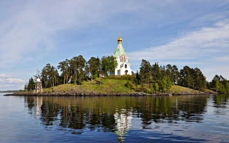 Valaam island by hydrofoil