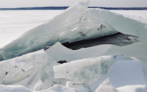 Ice on the Onego Lake