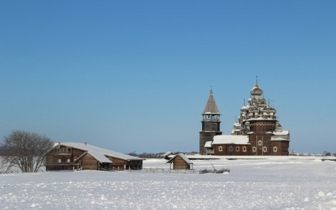 kizhi in winter